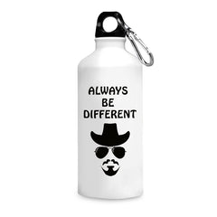 Always be different quote design printed white 750 ml sipper bottle