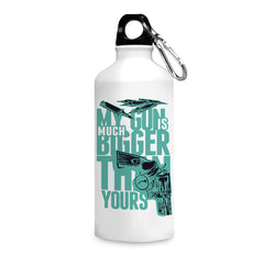 Guns quote design printed white 750 ml sipper bottle