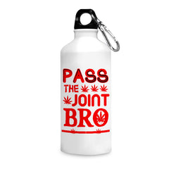 Pass the joint bro quote design printed white 750 ml sipper bottle