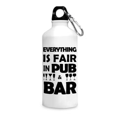 Bar quote design printed white 750 ml sipper bottle
