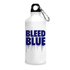 Bleed blue quote design printed white 750 ml sipper bottle