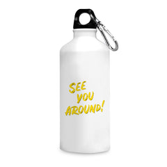 DD: See You Around design, Apple Iphone 7 plus printed back cover printed white 750 ml sipper bottle
