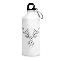 Geometrical reindeer design printed white 750 ml sipper bottle