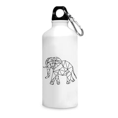 Geometrical elephant design printed white 750 ml sipper bottle