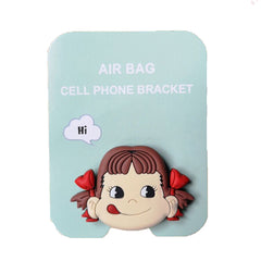 Motivatebox , Girl lip smacking  cute pop stands for phones and tablets(Expandable grip holder)