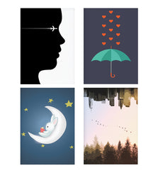 Set of 4 posters with designs like A vision to fly Decorate your walls, wardrobes with these 12 inches * 18 inches posters