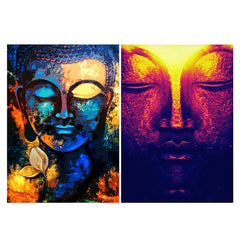 Set of 2 posters with designs like Enchanting colorful Buddha Matte Laminated 12 inches*18 inches posters
