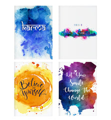 Set of 4 posters with designs like KarmaDecorate your walls, wardrobes with these 12 inches * 18 inches posters