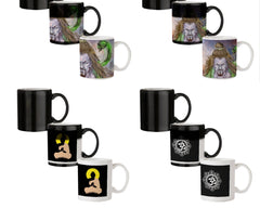 Shiva Anger   330 ml black magic mugs| Design appears when hot water is poured.