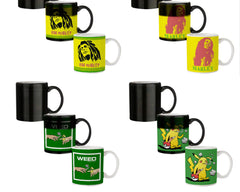 Black bob Marley   330 ml black magic mugs| Design appears when hot water is poured.
