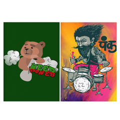 Set of 2 posters with designs like Weed power   Matte Laminated 12 inches*18 inches posters