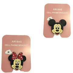 Motivatebox ,minny mouse micky mouse designed 2 cartooon grip holders for phones/tablets (Expandable phone stands)