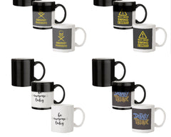Dangerously overeducated design  330 ml black magic mugs| Design appears when hot water is poured.