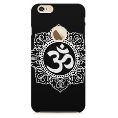 Ethnic Pattern with OM inscribed Apple Iphone 6 with round cut hard plastic all side printed back cover.