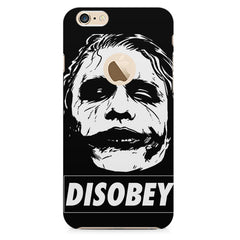 Joker disobey design    Apple Iphone 6 plus with round cut hard plastic printed back cover
