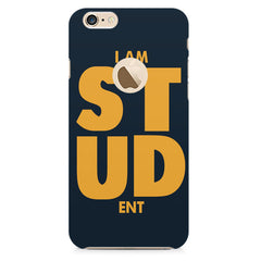 "I am ""STUD"" ENT quote design all side printed hard back cover by Motivate box Apple Iphone 6 with round cut hard plastic all side printed back cover."