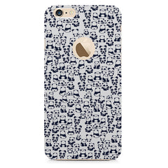 Cute Pandas all over the cover design    Apple Iphone 6 with round cut hard plastic printed back cover