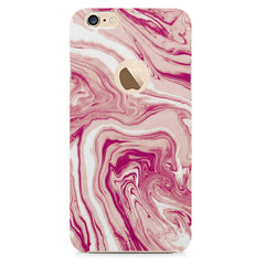 Pink marble texture design    Apple Iphone 6 with round cut hard plastic printed back cover