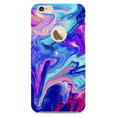 Colours spill design all side printed hard back cover by Motivate box Apple Iphone 6 with round cut hard plastic all side printed back cover.