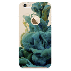 Coloured smoke design    Apple Iphone 6 plus with round cut hard plastic printed back cover