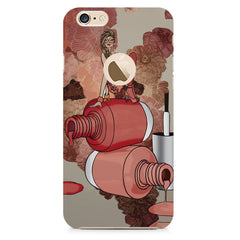Fallen Nail paint Design Apple Iphone 6 plus with round cut hard plastic all side printed back cover.