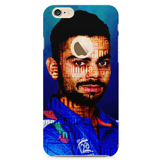 Virat Kohli India inscribed design    Apple Iphone 6 plus with round cut hard plastic printed back cover