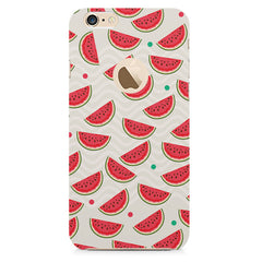 Water melon pattern design    Apple Iphone 6 plus with round cut hard plastic printed back cover