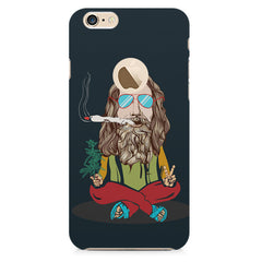 Baba Smoking Cigar design Apple Iphone 6 plus with round cut hard plastic printed back cover