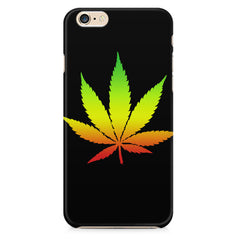 Marihuana colour contrasting design Apple Iphone 6/6s printed back cover