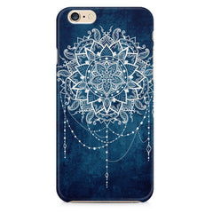 Ethnic design on blue pattern Apple Iphone 6/6s printed back cover