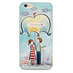 Couple under umbrella sketch design Apple Iphone 6/6s printed back cover