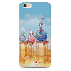 Woollen ball ride sketch design Apple Iphone 6/6s printed back cover