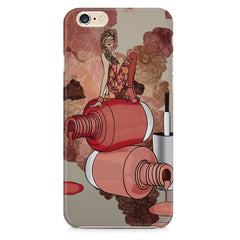 Girl on nail paints sketch design Apple Iphone 6/6s printed back cover