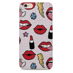 Lips pattern design Apple Iphone 6/6s printed back cover