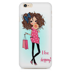 I love shopping quote design Apple Iphone 6/6s printed back cover