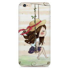 Girl swinging sketch design Apple Iphone 6/6s printed back cover