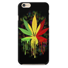 Marihuana colour contrasting pattern design Apple Iphone 6/6s printed back cover