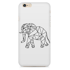 Geometrical elephant design Apple Iphone 6/6s printed back cover