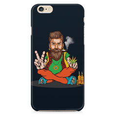 Beard guy smoking sitting design Apple Iphone 6/6s printed back cover