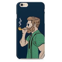 Pipe smoking beard guy design Apple Iphone 6/6s printed back cover