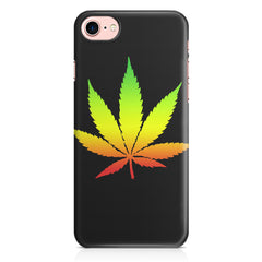 Marihuana colour contrasting design Apple Iphone 7 printed back cover