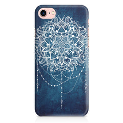 Ethnic design on blue pattern Apple Iphone 7 printed back cover
