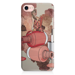 Girl on nail paints sketch design Apple Iphone 7 printed back cover