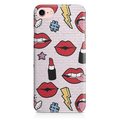 Lips pattern design Apple Iphone 7 printed back cover