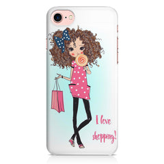 I love shopping quote design Apple Iphone 7 printed back cover