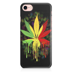 Marihuana colour contrasting pattern design Apple Iphone 7 printed back cover