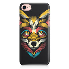 Fox sketch design Apple Iphone 7 printed back cover