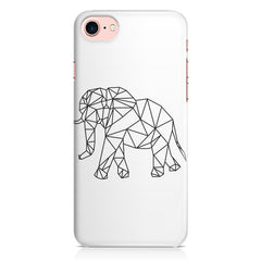 Geometrical elephant design Apple Iphone 7 printed back cover