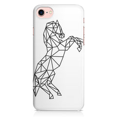 Geometrical horse design Apple Iphone 7 printed back cover