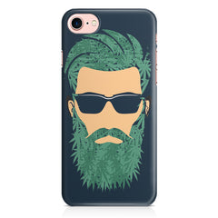 Beard guy with goggle sketch design Apple Iphone 7 printed back cover